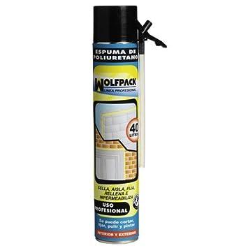 Wolfpack 14010155 - Espuma poliuretano, 750 ml (con canula): Amazon.es: Bricolaje y herramientas