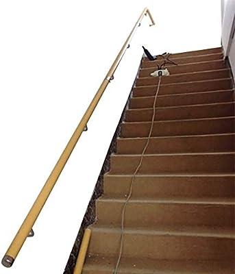 Barandilla de la escalera barandilla pasamanos, montado en la pared antideslizante de madera maciza Escalera Barandilla, escalera circular pasamanos, barandas Corredor Contra Viejo Mango Villa Dúplex: Amazon.es: Deportes y aire libre