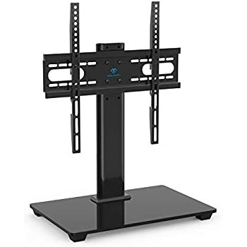 perlesmith universal tv stand table top tv stand for 37 55 inch lcd led tvs. Black Bedroom Furniture Sets. Home Design Ideas