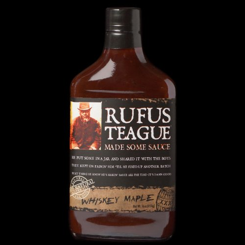 Rufus Teague Whiskey Maple Flask BBQ Sauce  16 Oz. Glass Fla
