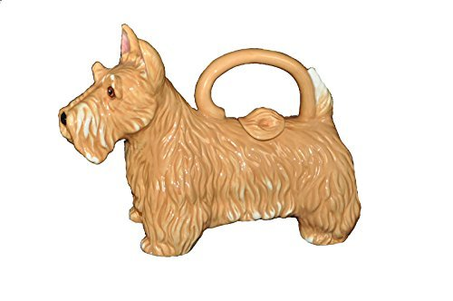 "Blue Sky Clayworks Figural Scottish Terrier Scotty Puppy Dog Teapot 9.5"" L"