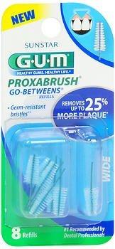 GUM Go-Betweens Proxabrush Refills Wide - 8 ct, Pack of 3