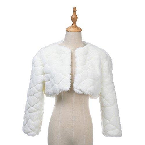 s Bridal Dress Wedding Bolero Jacket Shrug Wrap Coat, Ivory, S (Satin Wedding Bridal Bolero)