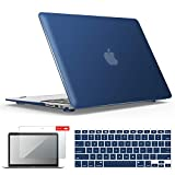 IBENZER MacBook Air 13 Inch Case, Soft Touch Hard Case Shell Cover with Keyboard Cover Screen Protector for Apple MacBook Air 13 A1369 1466 NO Touch ID, Navy Blue,MMA13NVBL+2