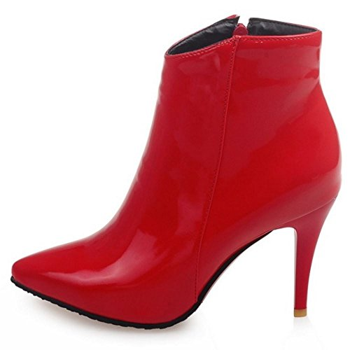 Moda Fiesta Zanpa Rojo Dress Botin Mujer Tacon Zapatos Botas xqwt1AwC5