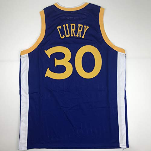 Unsigned Steph Stephen Curry Golden State Blue Custom Stitched Basketball Jersey Size Men's XL New No Brands/Logos