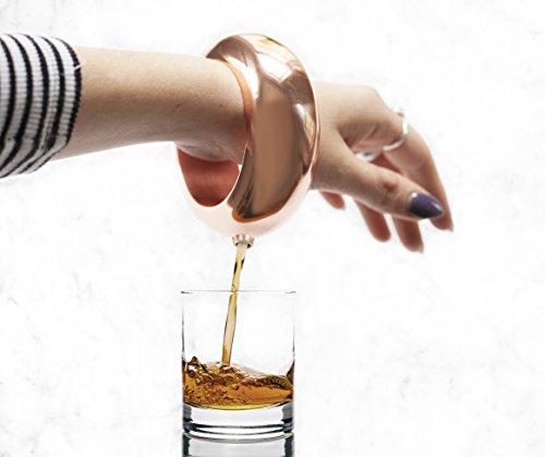 (Wrist Flask Booze Bangle   Women's Bracelet Shot Flask for Liquor   AAA Grade Stainless Steel - Rose Gold No Rust   Secret Spill Proof Jumbo Wine Alcohol Bracelet for Festival / Party 4 Ounce by Nova)
