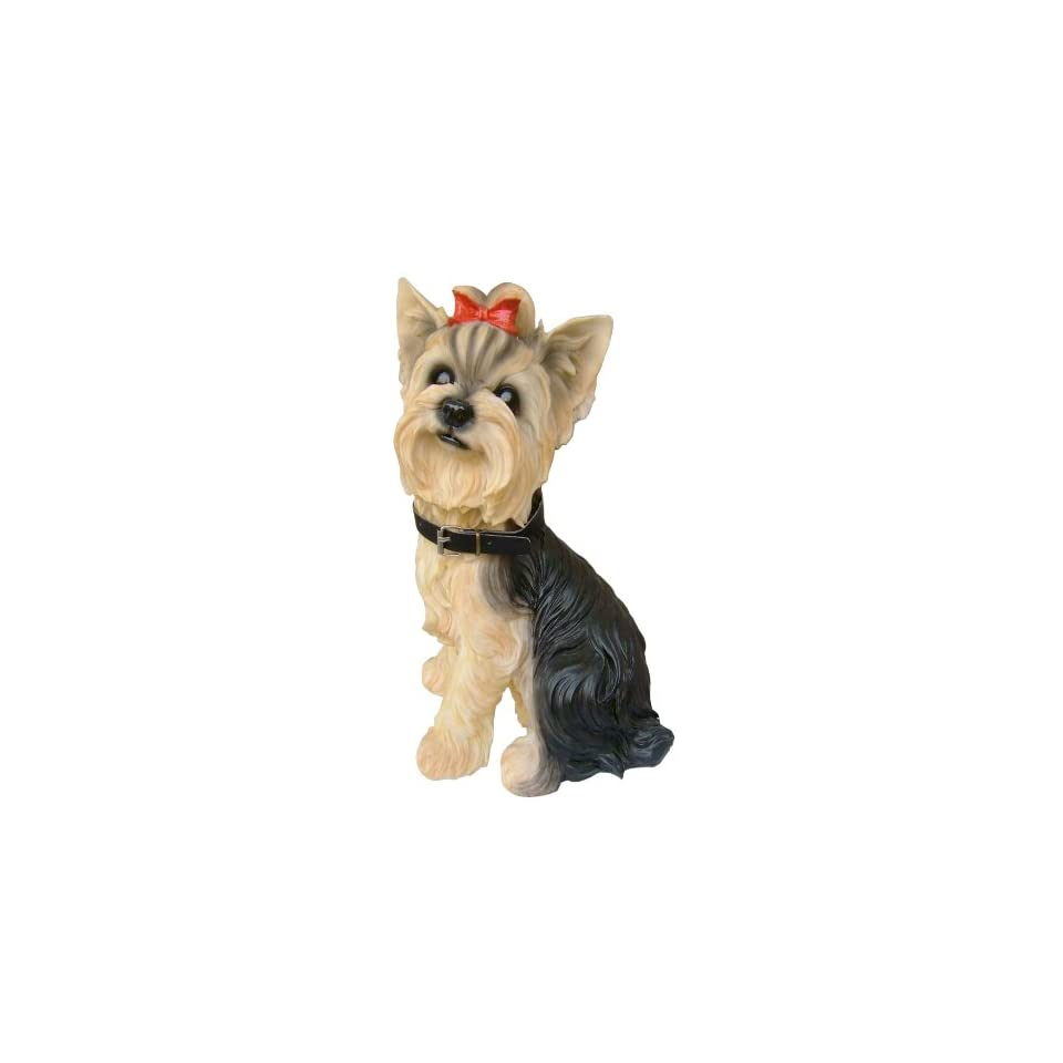 Yorkie Yorkshire Terrier Dog Breed Themed Polyresin Decorative Ornamental Garden Outdoor Statue Sculpture (3164)