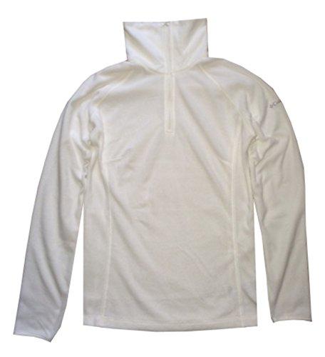Columbia Women Arctic Air Fleece 1/2 Zip Pullover Sweatshirt (XL, White)