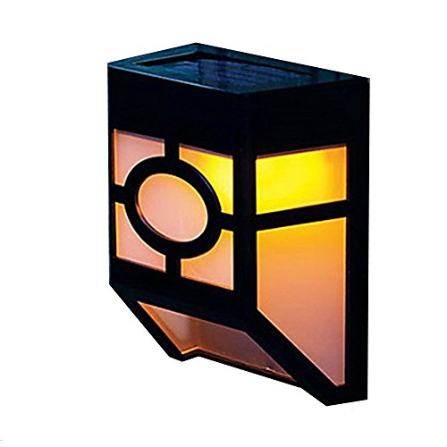 2-LED Mission-Style Solar Deck Accent Lights (Solar Accent Deck Lights)