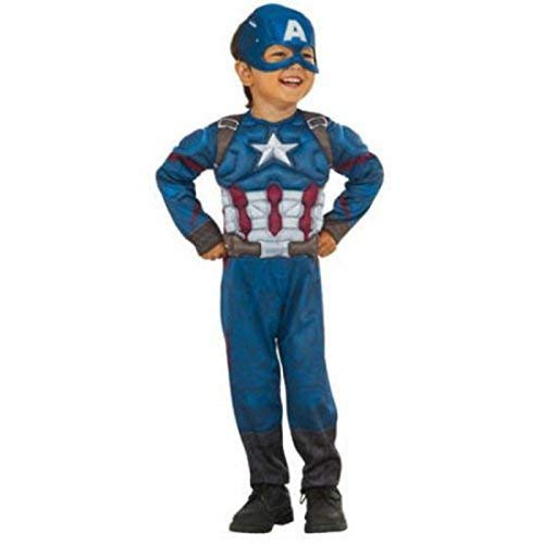 Captain America Muscle Chest Boys Toddler Costume 3T-4T