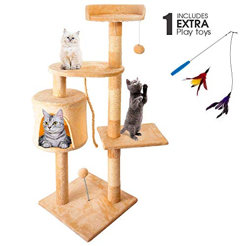 Masthome Cat Tree for Large Cats 110CM Cat Activity...