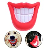 Smdoxi Dog Squeaky Toys1 Pc Rubber Pet Toy Vinyl Glue Toys With Sound Squeaker Big Mouth with Red Lips Pig Nose Reflected Sound Toys Dog Cat Chewing Fetch Pet for Dogs Tooth Cleaning Dog Toy (A)