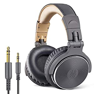 OneOdio-Adapter-Free-Closed-Back-Over-Ear-DJ-Stereo-Monitor-Headphones-Professional-Studio-Monitor-Mixing-Telescopic-Arms-with-Scale-Newest-50mm-Neodymium-Drivers-Glossy-Finsh-Grey