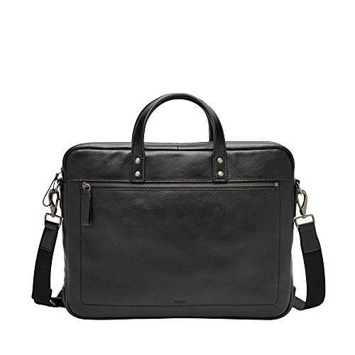 Fossil Mens Haskell Single Zip Workbag Black