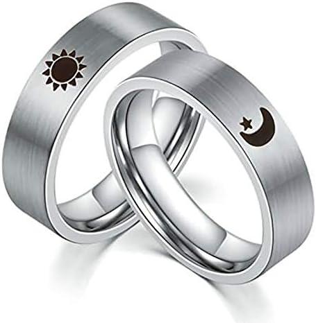 ジュエリー 結婚指輪 レディース 男性指輪 チタン 刻印 月と星婚約指輪
