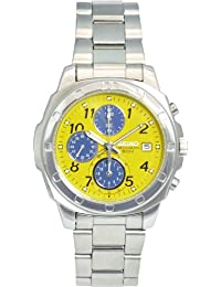 Seiko import Yellow SND409 mens SEIKO watch imports overseas models