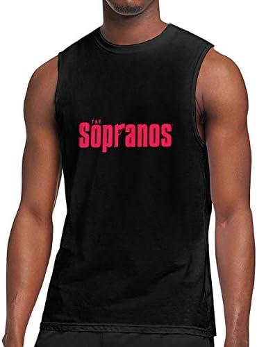タンクトップ メンズ The Sopranosソプラノス ノースリーブ Tシャツ 吸汗通気 フィットネス カジュアル インナーベスト スポーツ