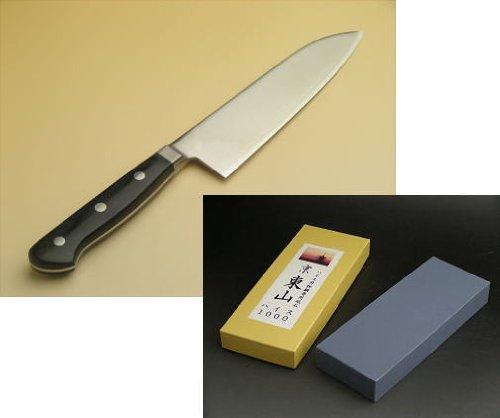 Kitchen-Knife-Santoku-165mm-Powder-Heiss-R2-HSS-Whetstone-1000-for-HSS