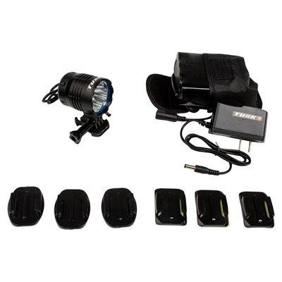 Tusk Ultra Bright LED Helmet Light Kit- 1 LIGHT/1 BATTERY