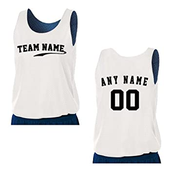 b7b2083cb4eb1 A4 Sportswear Navy White Ladies 2X Reversible Custom (Front and or Back)  Tank Uniform Jersey Top  Amazon.ca  Sports   Outdoors