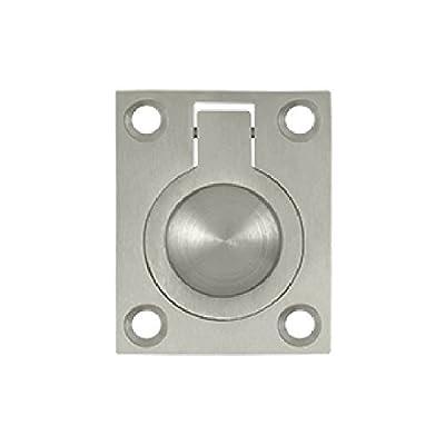 Deltana FRP175U15 1 3/4-Inch x 1 3/8-Inch Solid Brass Flush Ring Pull
