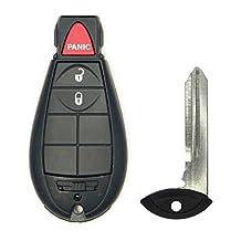 Canada Automotive Supply 1 New Uncut Keyless Remote Fobik Key Fob for 2013-2016 Dodge Ram