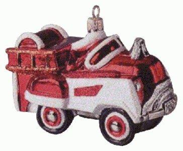 Hallmark QBG6909 1955 Murray Fire Truck Blown Glass 1998 Kee