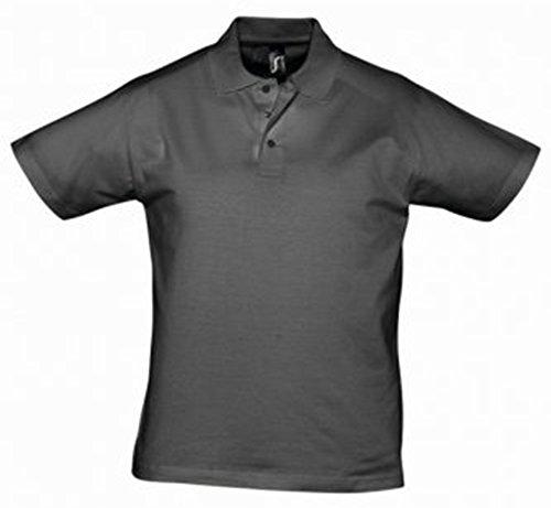 Sol 's Prescott Hombre Jersey Polo de manga corta para hombre gris oscuro 3X L
