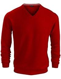 Mens Merino Wool V Neck Sweaters