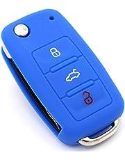 Finest-Folia etui na kluczyk samochodowy z 3 przyciskami, silikonowe etui na kluczyki samochodowe, kolor niebieski