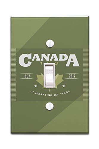 Canada 150 - Green Maple Leaf (Light Switchplate Cover)