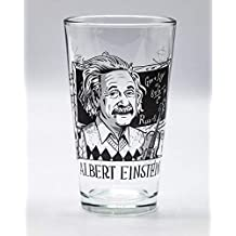 Cognitive Surplus Heroes of Science - Albert Einstein Beer Pint Glass