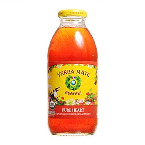 Guayaki Organic Yerba Mate, Pure Heart, 16 Ounce (Pack of 12) by Guayaki