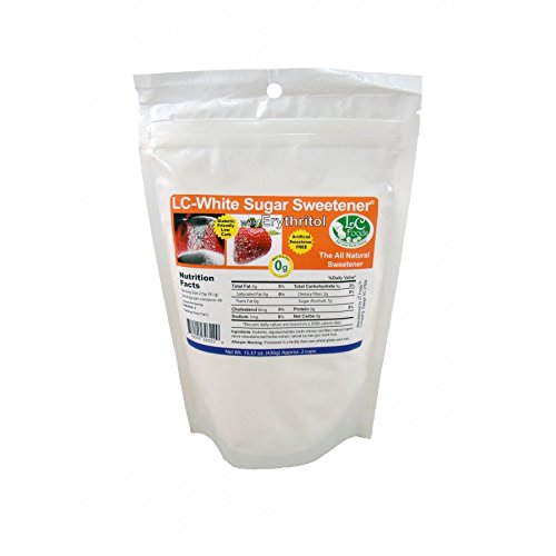 Low Carb Natural Sweetener - White Erythritol - LC Foods - Paleo - Gluten Free - Diabetic Friendly - Low Carb Sugar - 15.37 oz