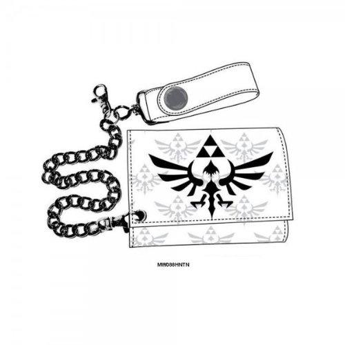 Nintendo Legend of Zelda White Triforce Wallet with Chain