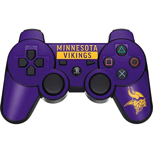 Skinit Minnesota Vikings Purple Performance Series PS3 Dual Shock Wireless Controller Skin - Officially Licensed NFL Gaming Decal - Ultra Thin, Lightweight Vinyl Decal Protection (Minnesota Vikings Wireless Controller)