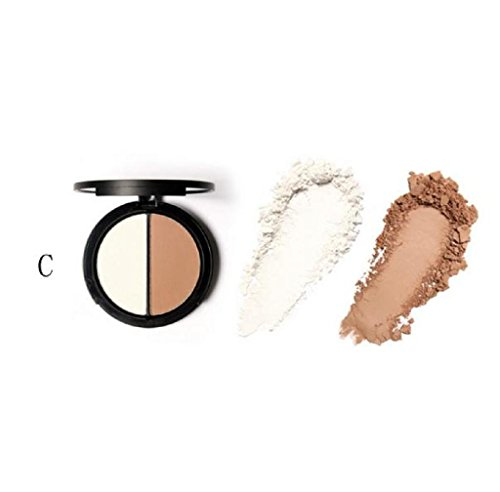 Anboo Bling Focallure Make up Face Bronzer & Highlighter 2 Diff Color Concealer Matte Powder (03)