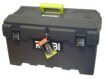 Ryobi R20TB Large Black Plastic Toolbox With Double Clasp: Amazon co