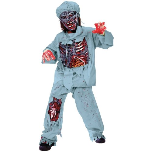 [Zombie Doctor Costume - Large] (Kids Zombie Doctor Costumes)