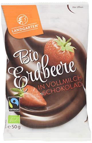 Landgarten Bio Erdbeere in Vollmilch-Schokolade, 50 g LG5921-0050M
