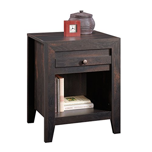 Sauder 418587 Furniture, Night Stand, CHARCOAL Pine (Pine Finish Table Nightstand)