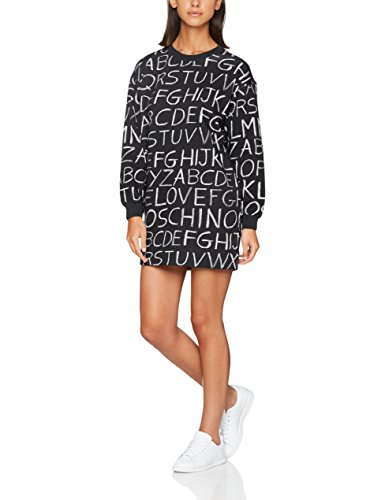 0002 blackboard Para blackboard pr Mujer Vestido Allover Negro Moschino Love Dress zaCOv