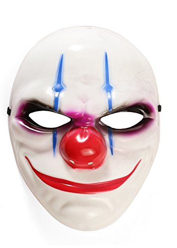 Clown Joker Halloween Scary Face Mask Fancy Dress Cosplay (Clown Faces Scary)