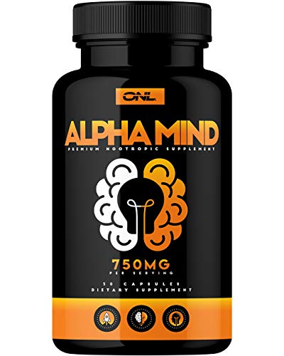 Alpha Mind Premium Nootropic Brain Booster Supplement – Enhance Focus, Boost Concentration, Improve Memory & Reduce Anxiety – Mental Enhancement Pills for Neuro Energy & IQ – 1 Month Supply