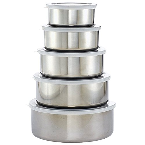 Imperial Stainless Steel Bowl and Lid 10-piece Set