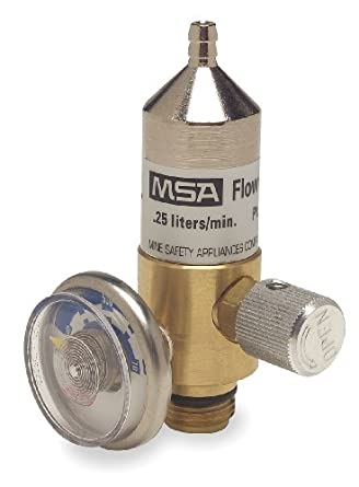 MSA (Mine Safety Appliances) 467895 MSA .25 LPM Model RP Fixed Flow Regulator for RP Style Calibration Gas Cylinders, Plastic, 4.5