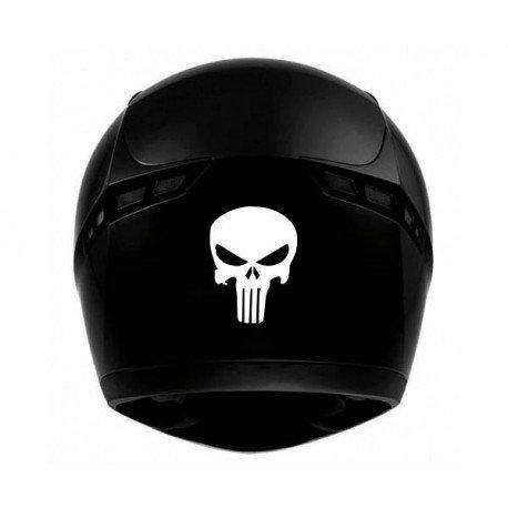 Pegatina autoadhesiva de cráneo para casco de moto