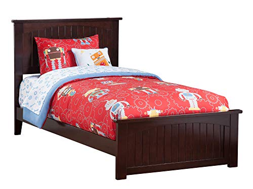 Atlantic Furniture AR8226031 Nantucket Traditional Bed with Matching Foot Board, Twin, Espresso (Nantucket Style Furniture)