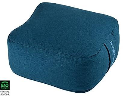 Cojín de meditación cuadrado Bio, azul: Amazon.es: Deportes ...